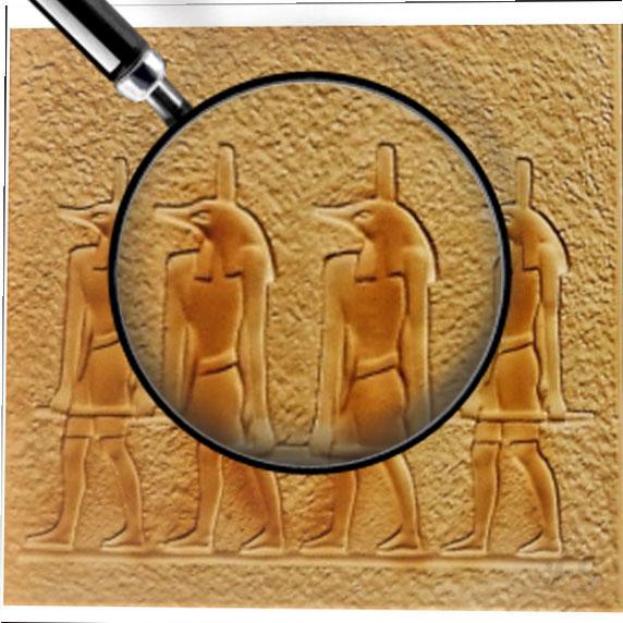 Gipsovoe panno Egipto Anubo